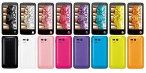 Die Pantone Smartphones in den verschiedenen Farbvariaten. Foto: Japanes Engadget.