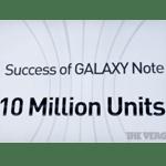 Samsung feiert 10 Millionen verkaufte Galaxy Note-Geräte