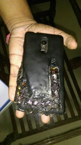 Lenovo K6 catches fire in the pocket
