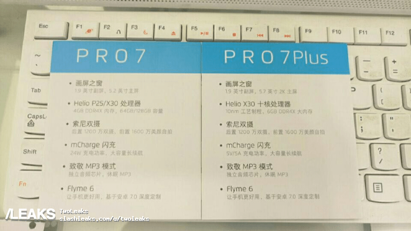 Meizu Pro 7: leaked technical sheet confirms our wildest expectations
