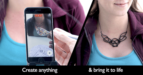 With Yeehaw wand, you can draw and print in 3D