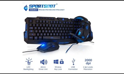 SportsBot SS301 Gaming Combo is available for purchase in India