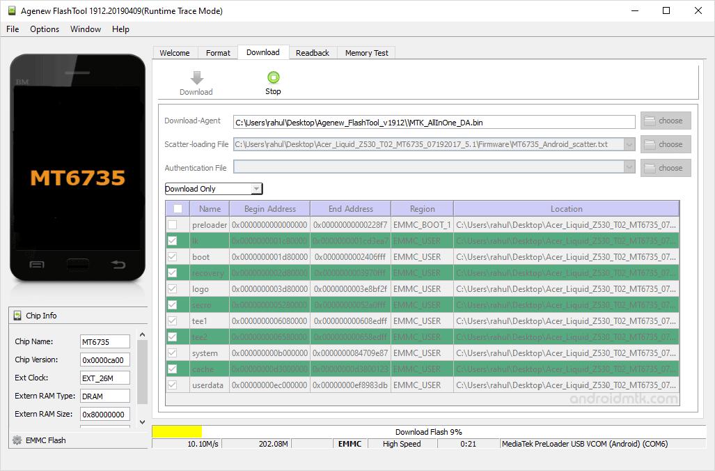 Agenew Flashtool Installing