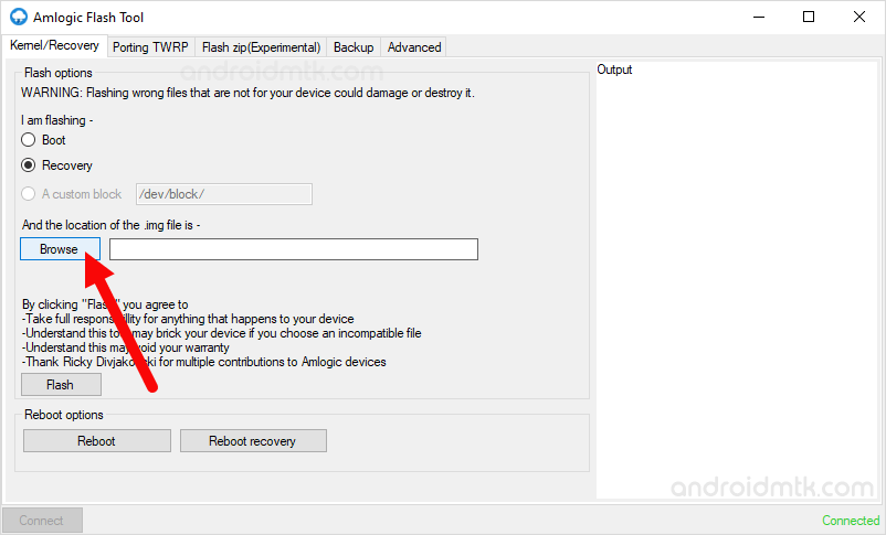 Amlogic Flash Tool browse