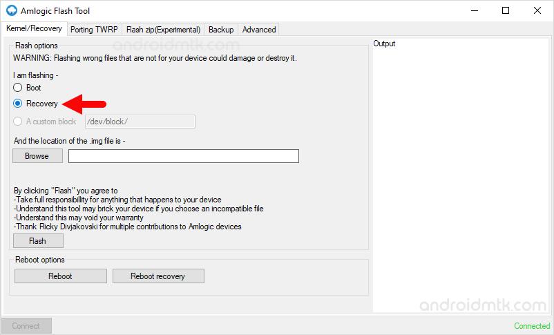 Amlogic Flash Tool Recovery