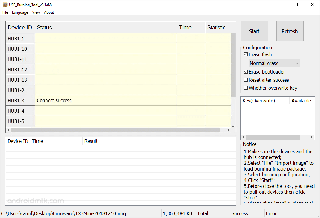 Amlogic Usb Burning Tool Connect Success