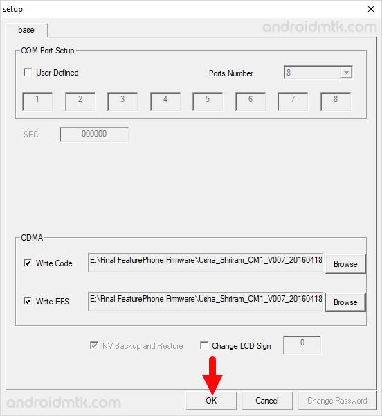 CDMA Software Download Tool OK