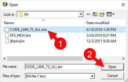CDMA Tool Select Code Bin