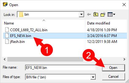CDMA Tool Select EFS Bin