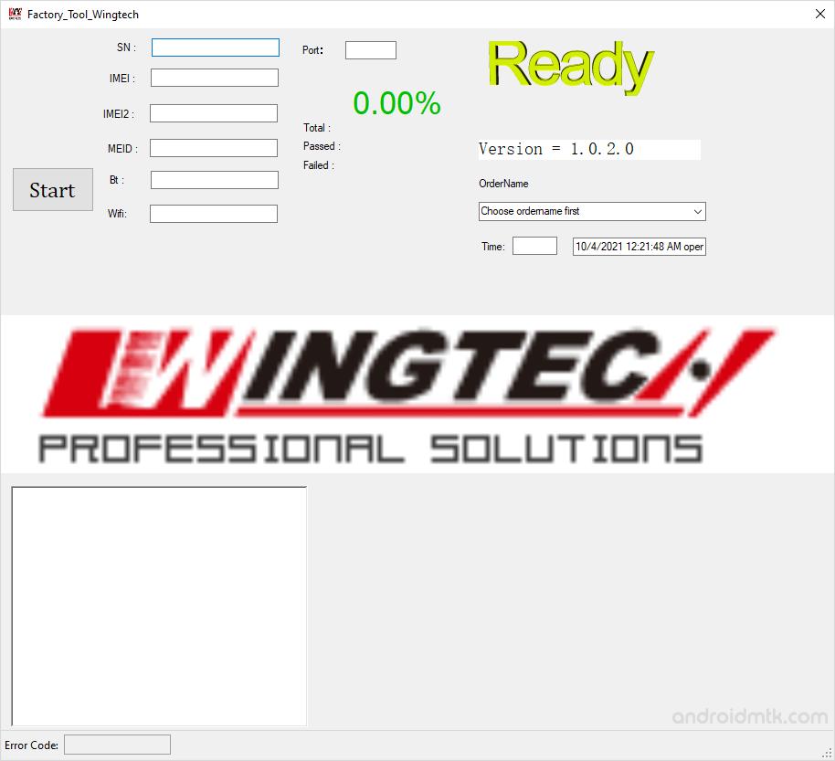Factory Tool Wingtech