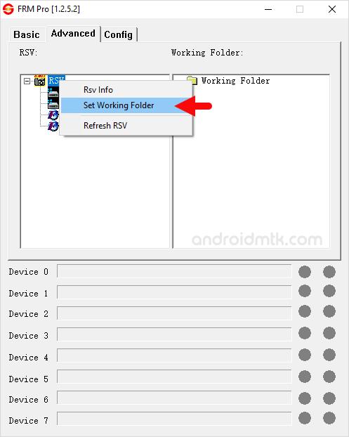Frm Pro Rsv Working Folder
