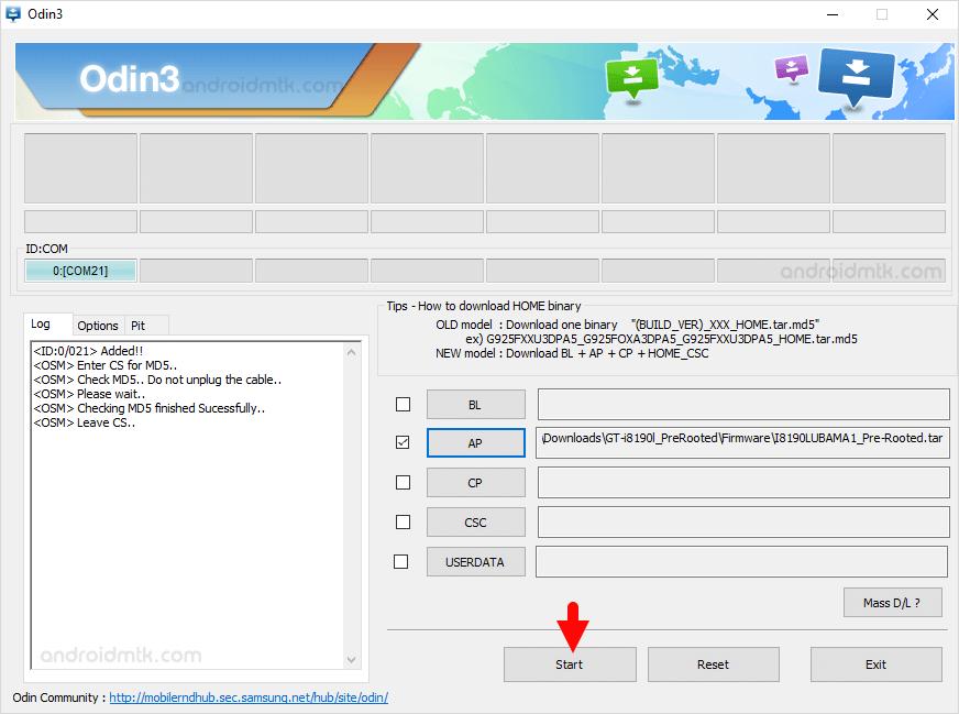 Gt-I8190L Start Flash
