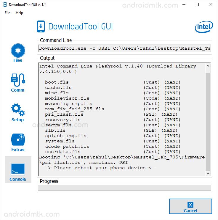 Intel Download Tool Gui Flashing