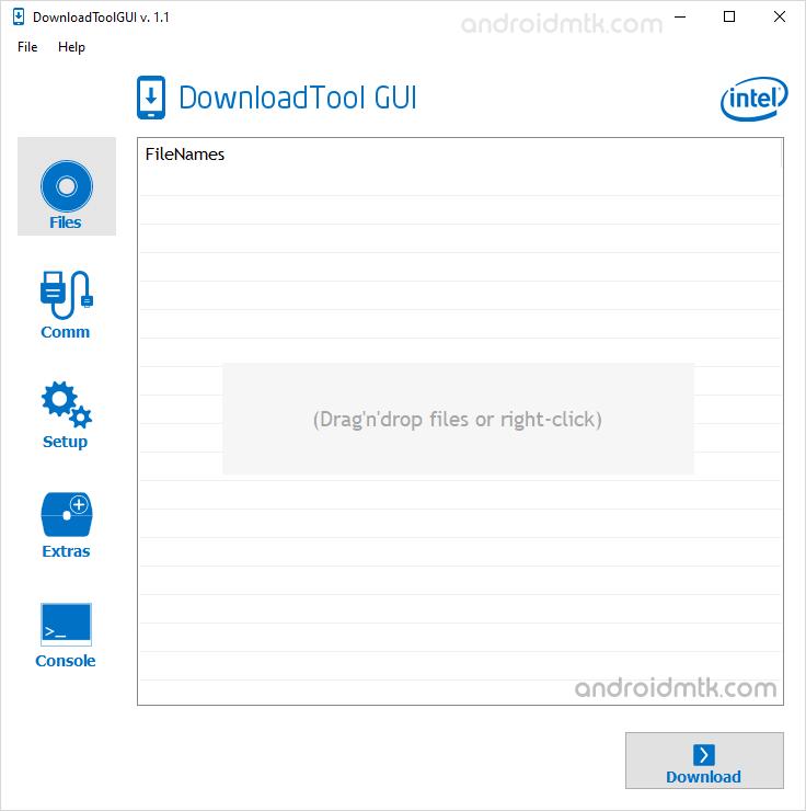 Intel Download Tool Gui