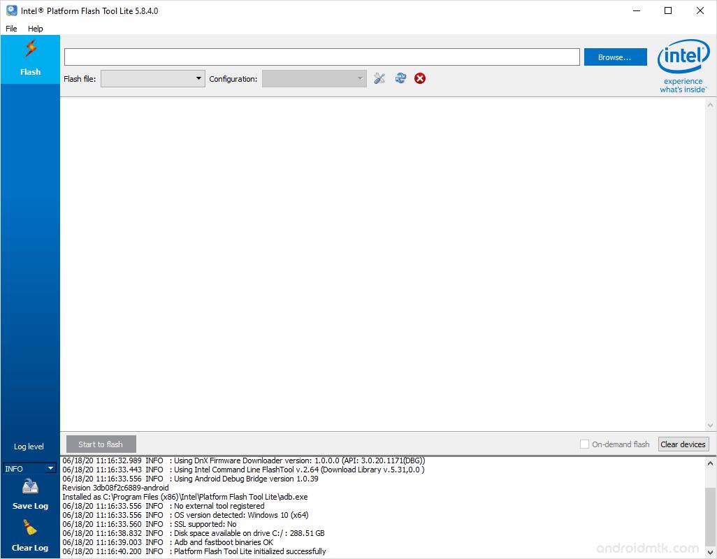 Intel Phone Flash Tool