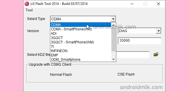 Lg Flash Tool Select Type