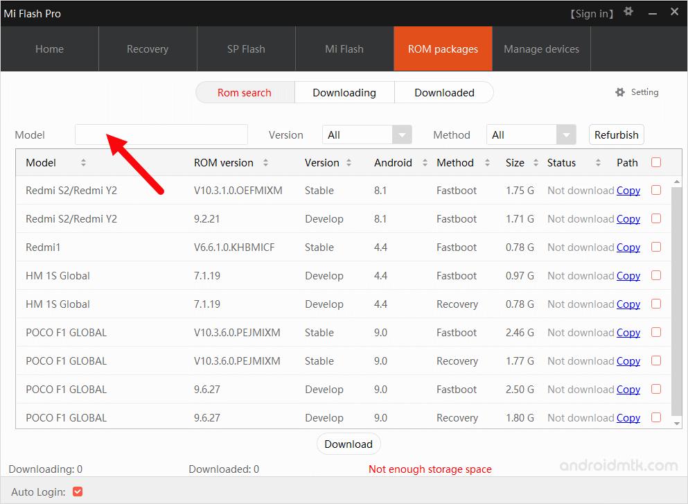 Miflash Pro Model Search