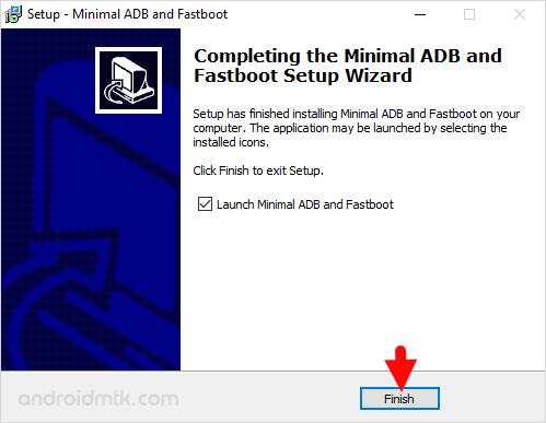 Minimal Adb Fastboot Setup Finish