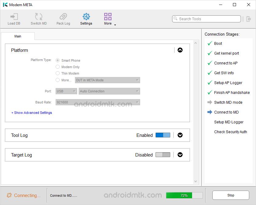 Modem Meta Connection