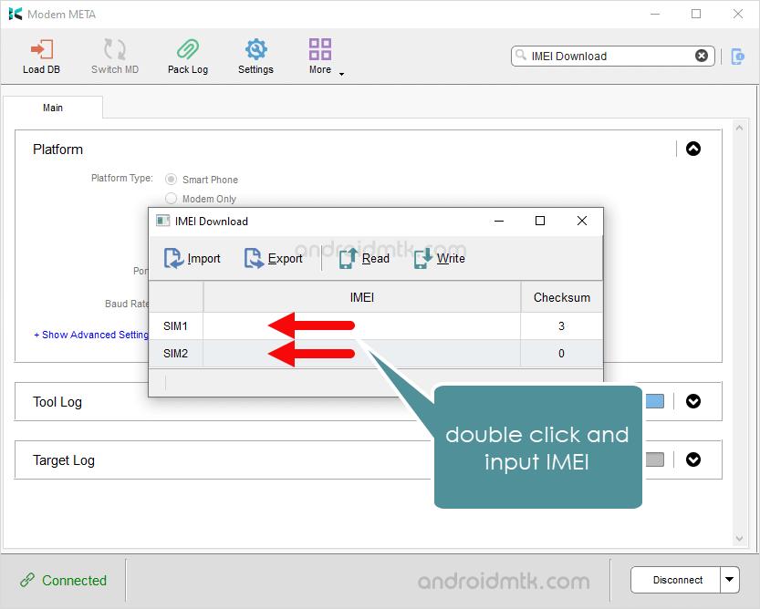 Modemmeta Imei Download Input