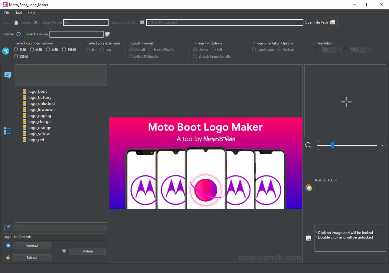 Moto Boot Logo Maker Tool