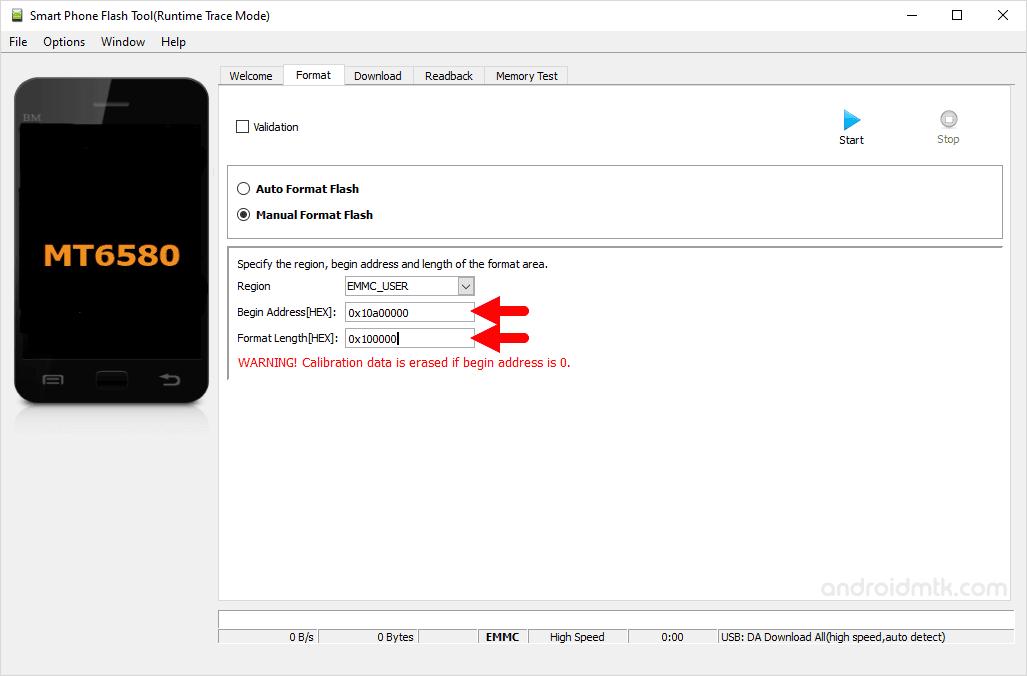 Mt6580 0X10A00000 0X100000 Manual Format Parameter