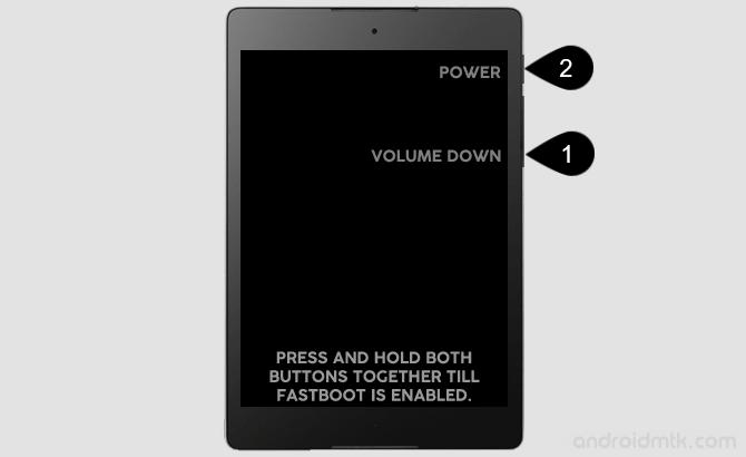 Google Nexus 9 Wifi Fast Boot Mode