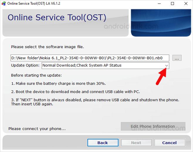 Ost Update Option