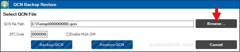 Qcn Backup Restore Browse
