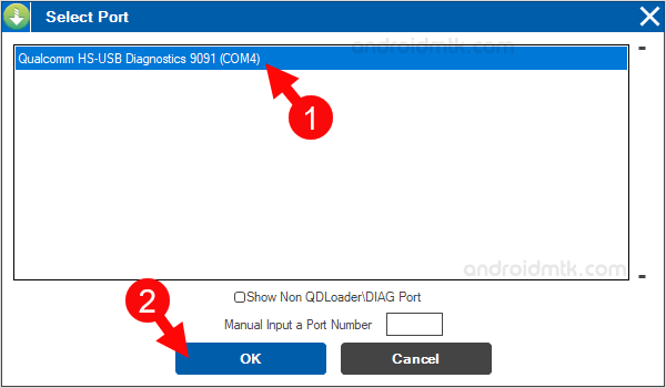 Qfil Select Port Ok