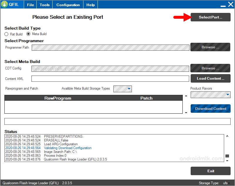 Qfil Select Port