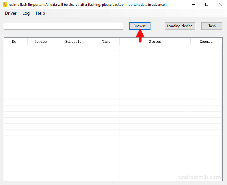 Realme Flash Tool Browse