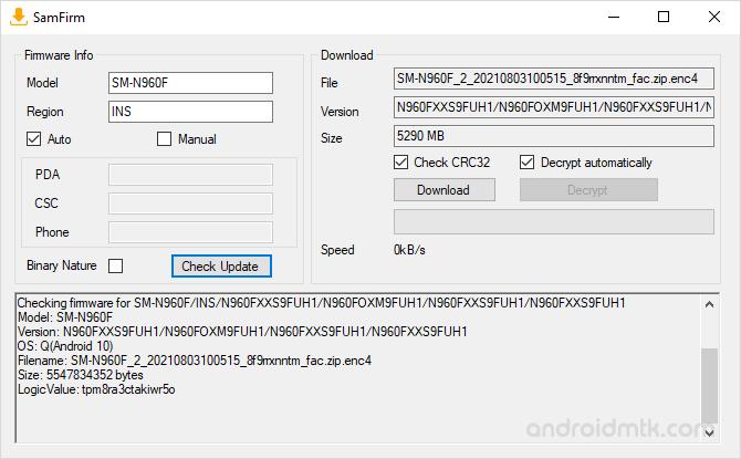 Samfirm File Details