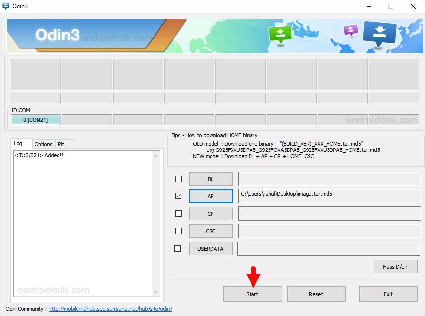 Samsung Ap File Added Odin