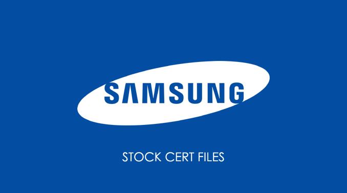 Samsung Cert Files
