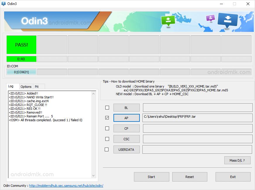 Samsung Frp Odin Pass