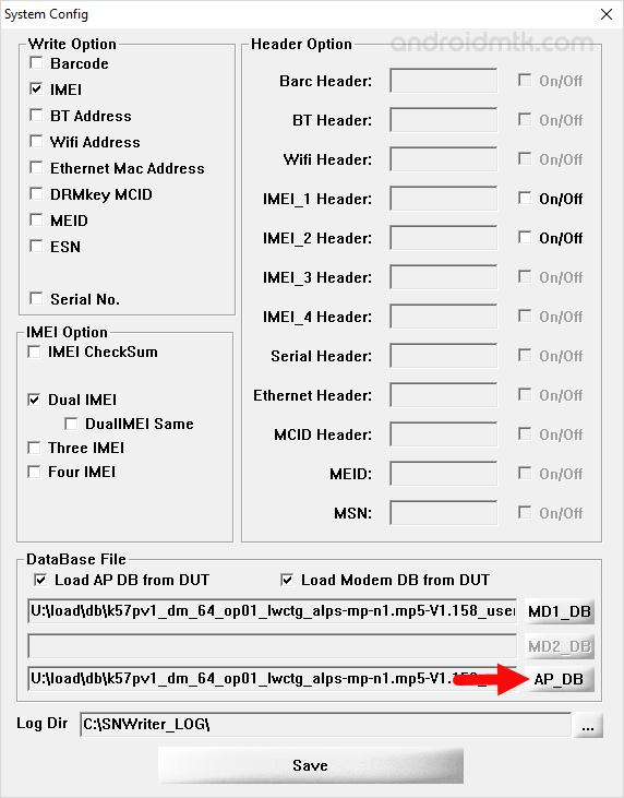 SN Write Tool AP Database