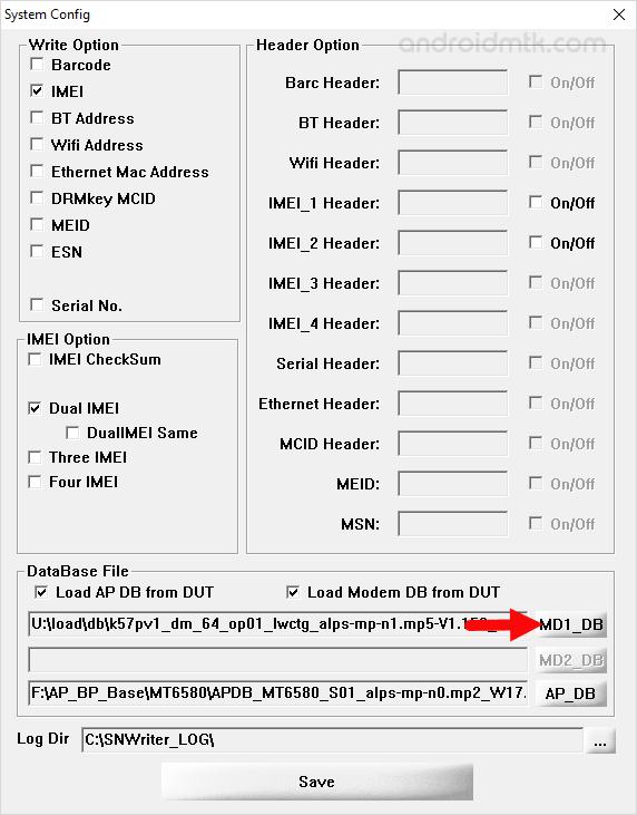 SN Write Tool BP Database