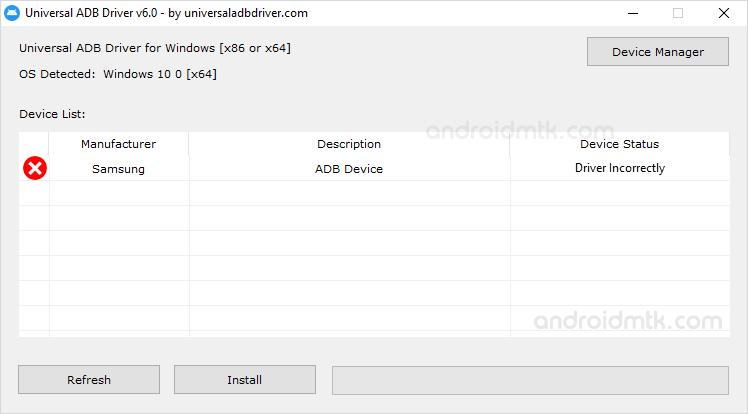 Universal Adb Driver Device Added