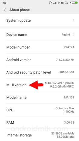 Xiaomi About Miui
