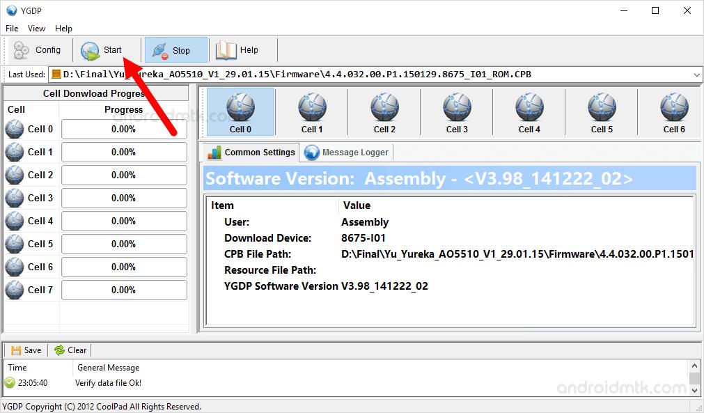 Ygdp Tool Start Flashing