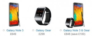 note3 & gear uk price