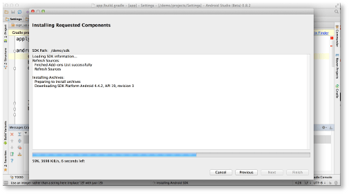 Android Studio Beta installing