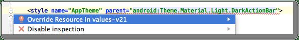 Android Studio Beta quickfix