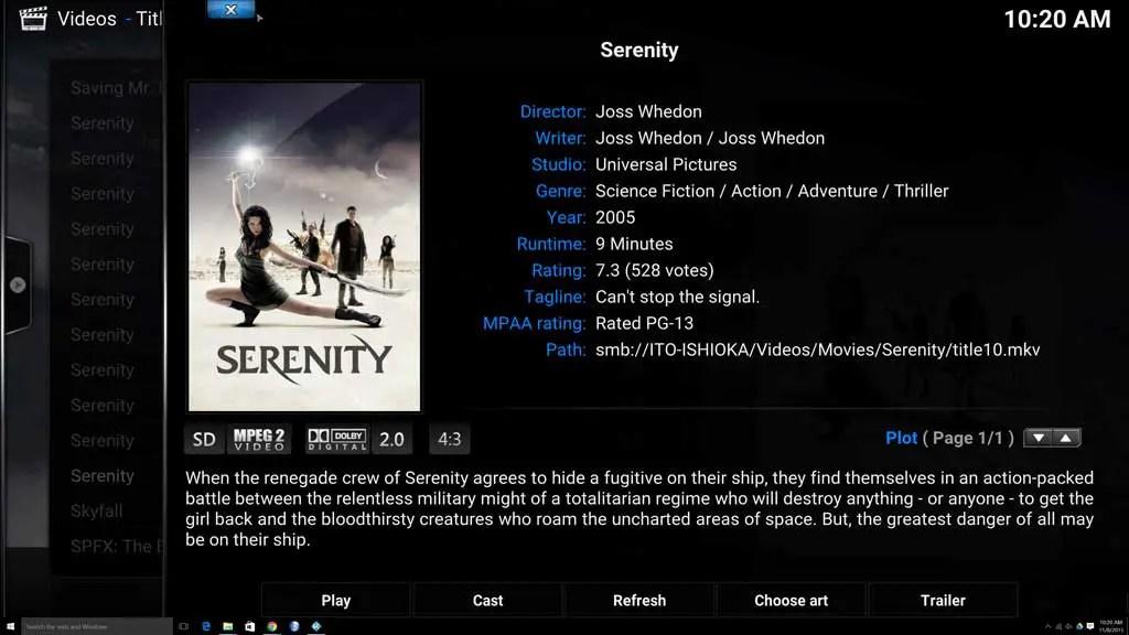 Serenity-info