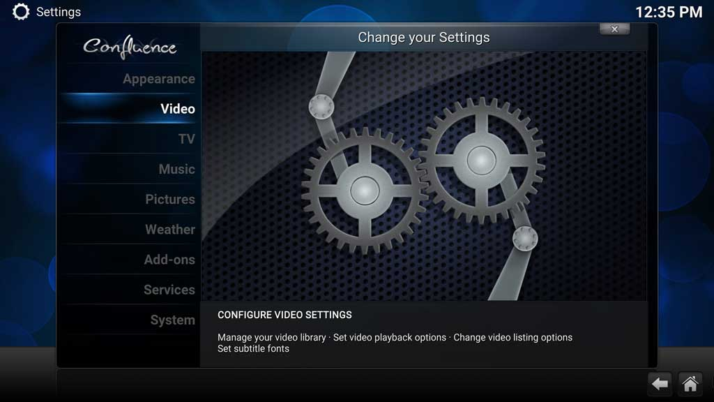 Kodi System Video Settings