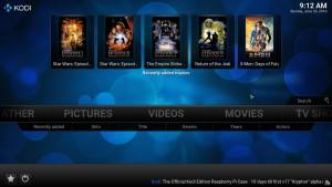 Kodi on Android media player