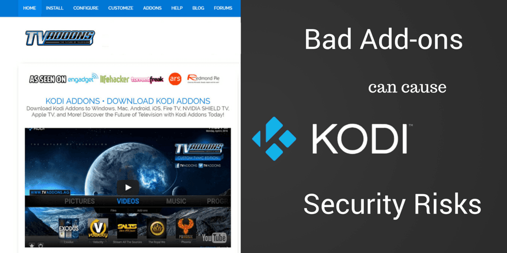 Bad addons cause Kodi security risks