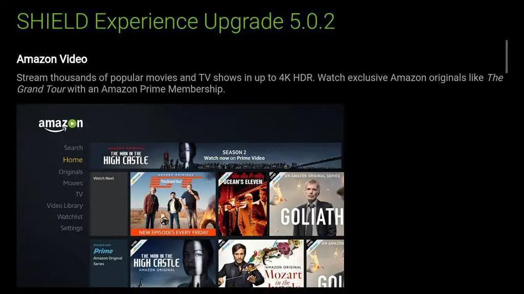 NVIDIA Shield Experience 5.0.2