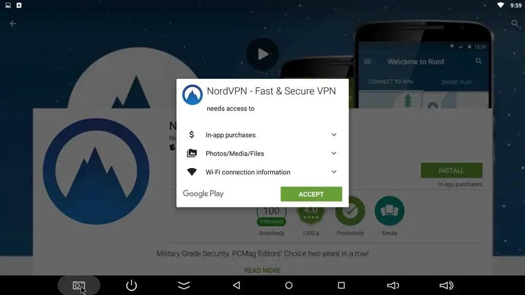 NordVPN app permissions